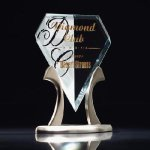 Royal Diamond Tiara Clear Glass Awards