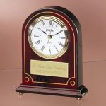 Wood with Detailed Gold Painting Desk Clocks