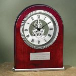 Arch Clock with Exposed Gears in Chrome Employee Awards