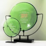 Spinoza Plate Jade Glass Awards