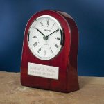 Piano Wood Clock with Curved Profile Mantle Clocks