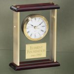 Glass and Brass Mantle Clocks