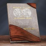Wave Moonstone Plaque Recognition Plaques