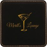 Black Square Leatherette Coaster Sales Awards