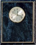 Black Marble Finish Clock Plack Square Rectangle Awards